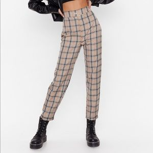 Checkered Tapered Pants - worn once